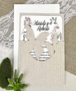 Invitatie de nunta cod 39626 din Catalogul Alice