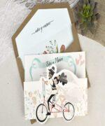 Invitatie de nunta cod 39629 din Catalogul Alice