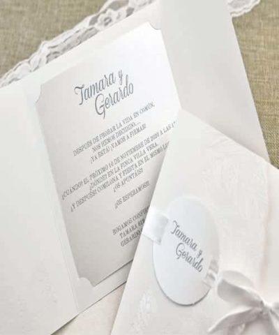 Invitatie de nunta cod 39635 din Catalogul Alice