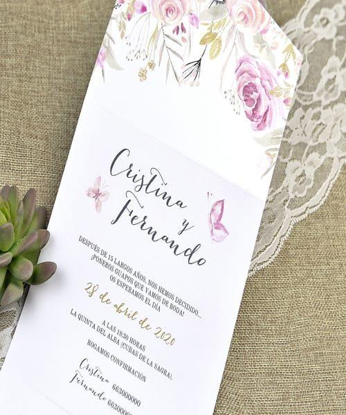 Invitatie de nunta cod 39636 din Catalogul Alice