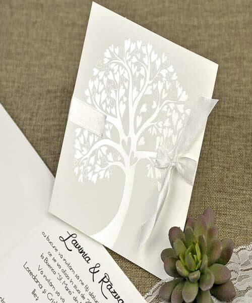 Invitatie de nunta cod 39642 din Catalogul Alice