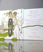 Invitatie de nunta cod 34947 din Catalogul Emma