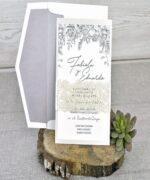 Invitatie de nunta cod 39337 din Catalogul Emma