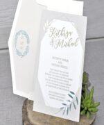 Invitatie de nunta cod 39344 din Catalogul Emma