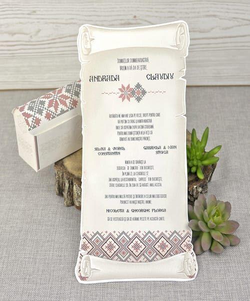 Invitatie de nunta cod 39347 din Catalogul Emma