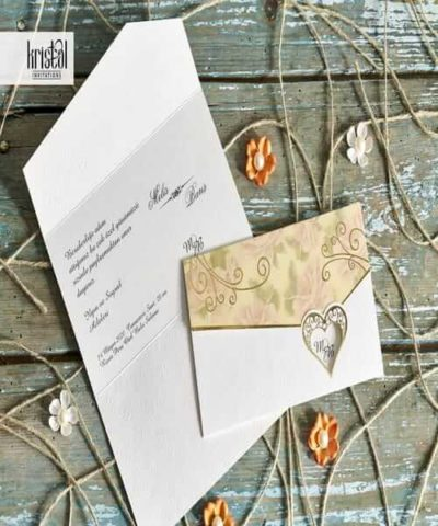 Invitatie de nunta cod 30043 din Catalogul Kristal Boutique