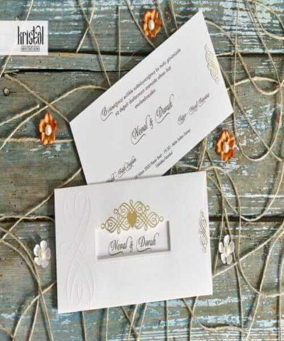 Invitatie de nunta cod 70106 din Catalogul Kristal Boutique