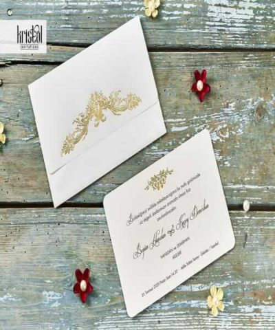 Invitatie de nunta cod 70122 din Catalogul Kristal Boutique