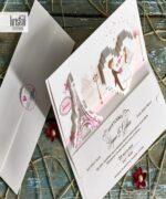 Invitatie de nunta cod 70132 din Catalogul Kristal Boutique