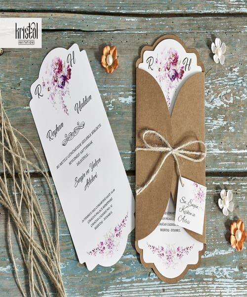 Invitatie de nunta cod 70256 din Catalogul Kristal Boutique