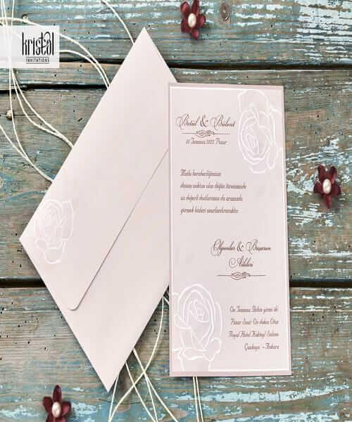 Invitatie de nunta cod 70271 din Catalogul Kristal Boutique