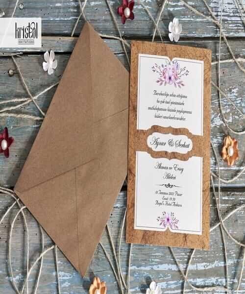 Invitatie de nunta cod 70287 din Catalogul Kristal Boutique