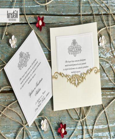Invitatie de nunta cod 70292 din Catalogul Kristal Boutique