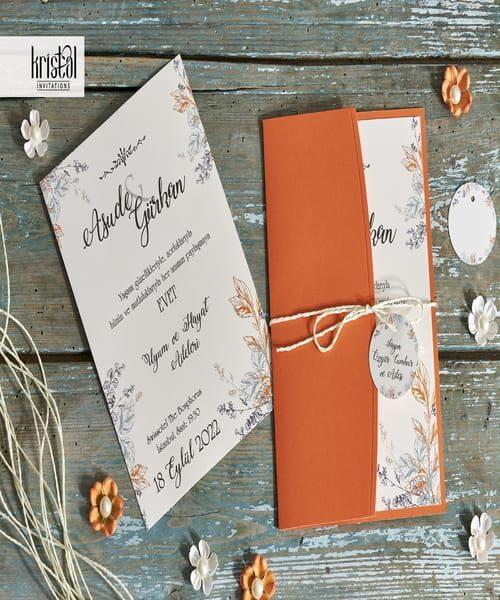 Invitatie de nunta cod 70301 din Catalogul Kristal Boutique
