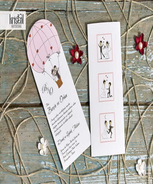 Invitatie de nunta cod 70303 din Catalogul Kristal Boutique