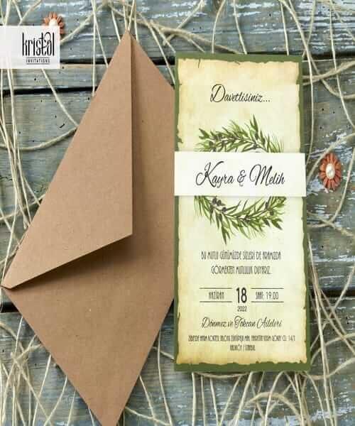 Invitatie de nunta cod 70307 din Catalogul Kristal Boutique