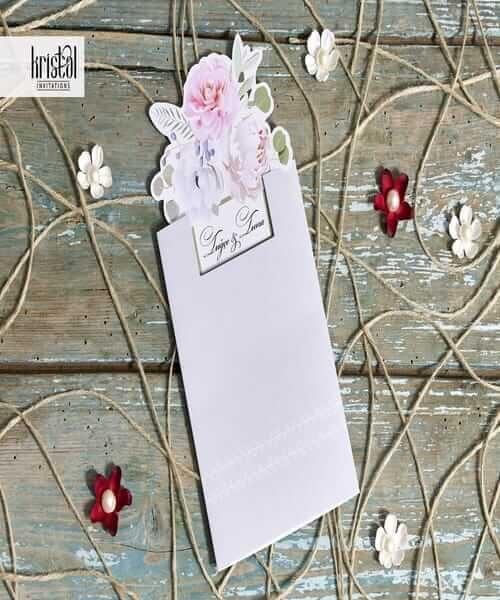 Invitatie de nunta cod 70312 din Catalogul Kristal Boutique