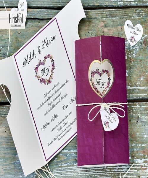 Invitatie de nunta cod 70335 din Catalogul Kristal Boutique