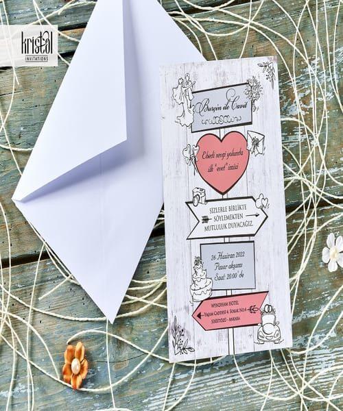 Invitatie de nunta cod 70346 din Catalogul Kristal Boutique