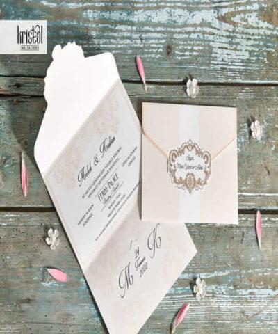 Invitatie de nunta cod 70349 din Catalogul Kristal Boutique
