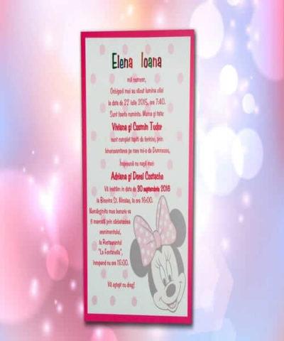 Invitatie de botez cod 100 din Catalogul Lara Baby