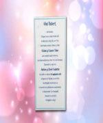 Invitatie de botez cod 103 din Catalogul Lara Baby
