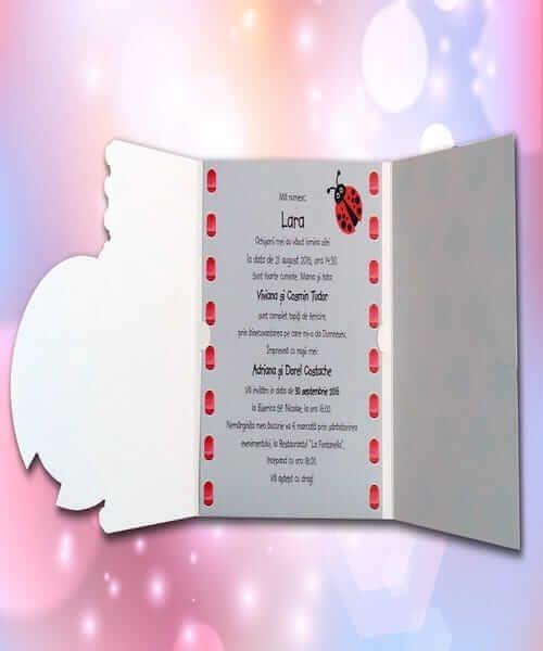 Invitatie de botez cod 113 din Catalogul Lara Baby