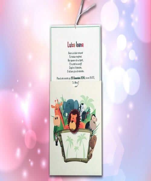 Invitatie de botez cod 114 din Catalogul Lara Baby