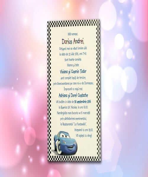 Invitatie de botez cod 116 din Catalogul Lara Baby