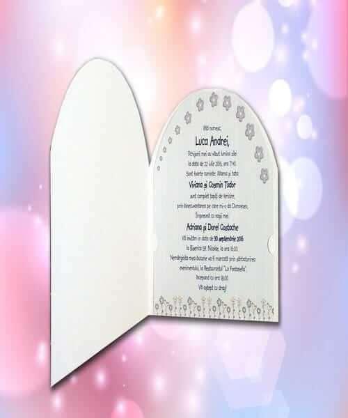 Invitatie de botez cod 126 din Catalogul Lara Baby