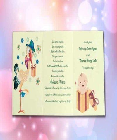 Invitatie de botez cod 128 din Catalogul Lara Baby