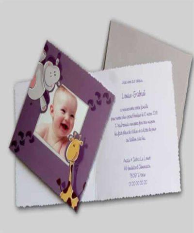 Invitatie de botez cod 15404 din Catalogul Deluxe Botez