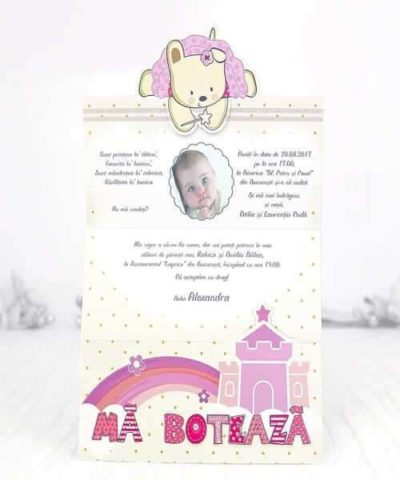 Invitatie de botez cod 15507 din Catalogul Deluxe Botez