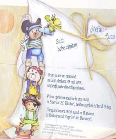 Invitatie de botez cod 15511 din Catalogul Deluxe Botez
