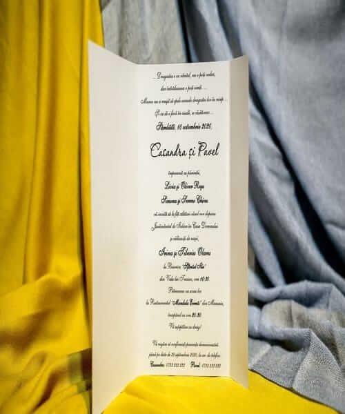 Invitatie de nunta cod 207 din Catalogul Best Cards