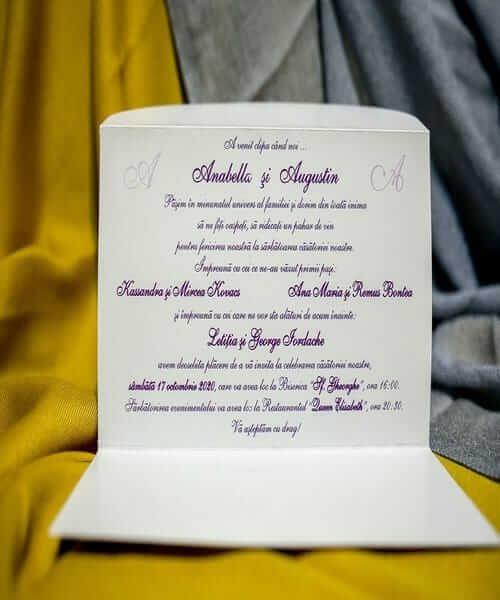 Invitatie de nunta cod 213 din Catalogul Best Cards