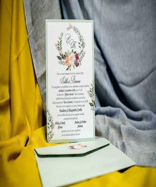 Invitatie de nunta cod 970 din Catalogul Best Cards