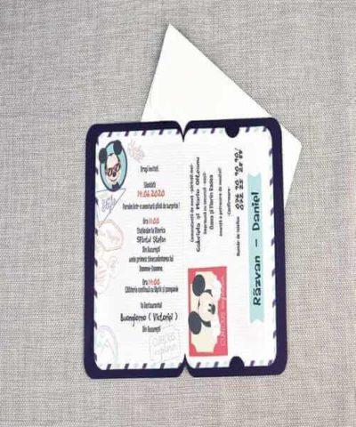 Invitatie de botez cod 15705 din Catalog Disney