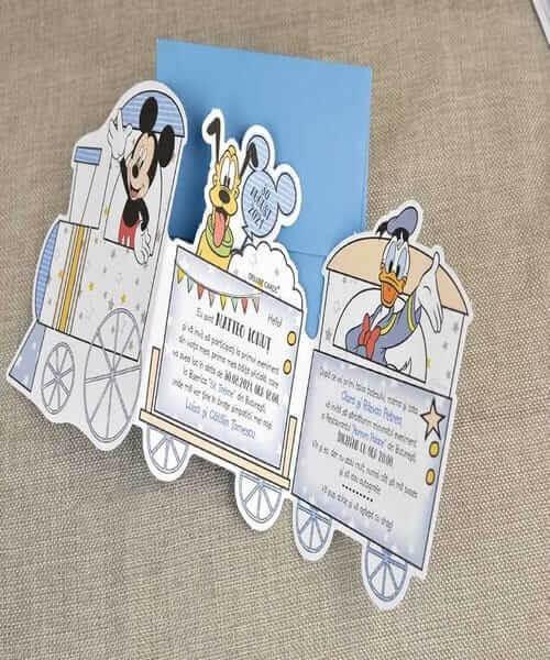 Invitatie de botez cod 15723 din Catalog Disney